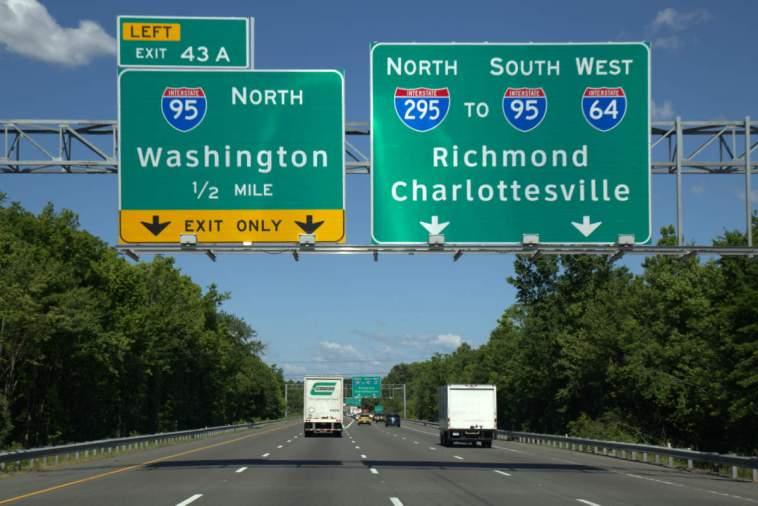 Heading towards Washington
