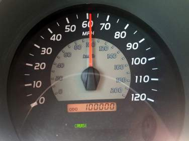 100,000 miles on the Tacoma