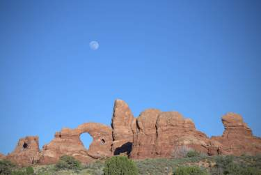 Moonrise over Arches