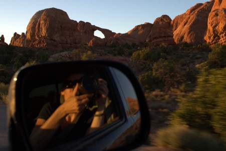 Andi snapping at Arches