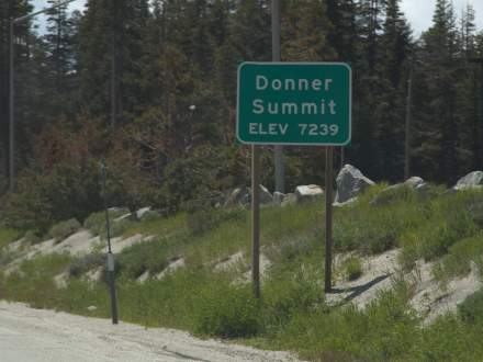 Donner Summit at 7239 feet