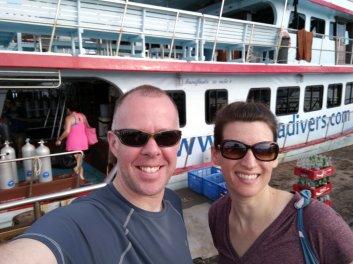 Kirk & Andi at the dive boat