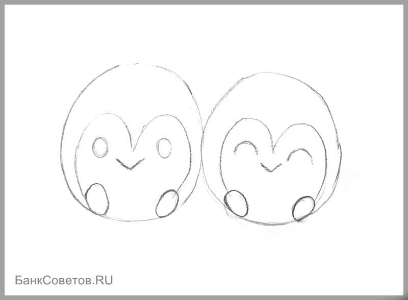 चरण संख्या 7: पेंगुइन पेनी कैसे आकर्षित करें