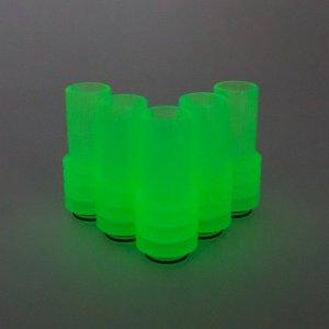 Green UV Sniper Drip Tip in the dark
