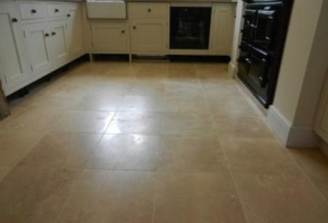 Travertine Floor Before Repolishing
