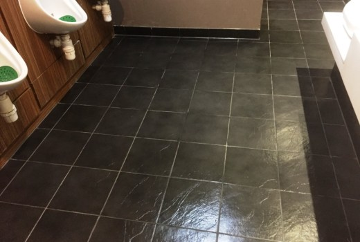 Slate Floor Gents Toilets at Bowling Alley Sealing