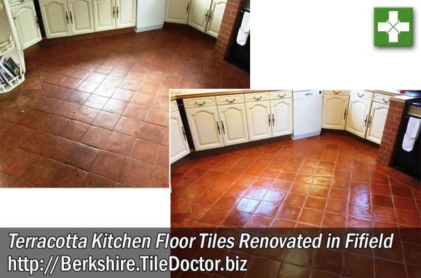 Terracotta Kitchen Floor Tile Renovation in Fifield Berkshire