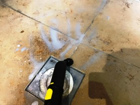 Limestone Shower During Steam Cleaning Sonning Eye