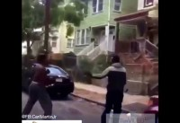 Newark Street Fight Ending With A Knockout
