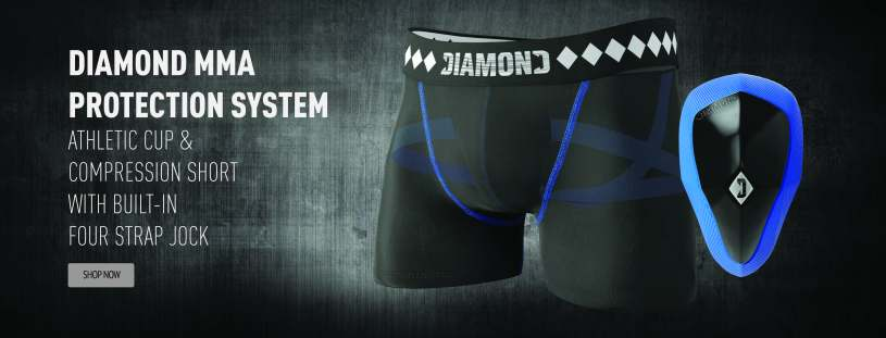 Diamond MMA Protection System Athletic Cup and Compression Short With Built-In Four Strap Jock