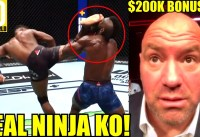 MMA Community React to possibly THE GREATEST EVER KNOCKOUT IN UFC HISTORY Joaquin Buckley-Kasanganay