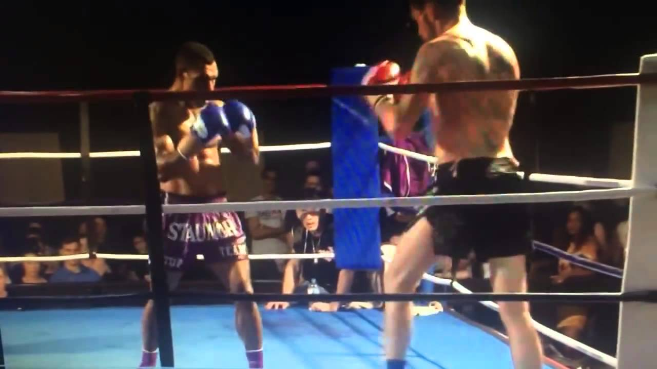 Super Knockout in Kick Boxing Match