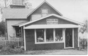 The old Rolling Bay Post Office