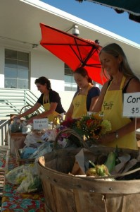 Volunteers helped make Sound Food's Ferry Farm Stand project a success.