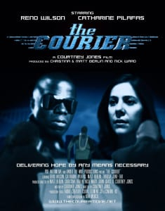 The poster from Bainbridge resident Courtney Jones' latest film, The Courier, which he directed.