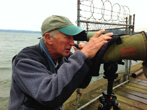 Avid birder George Gerdts