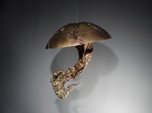 By daylight, one of Eisenhour's bronze castings in his Jellyfish collection