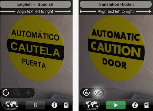 Word Lens Apple iPhone iPad App