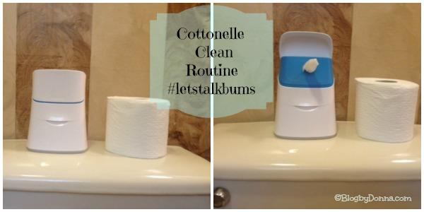 Cottonelle flushable wipes clean routine #letstalkaboutbums