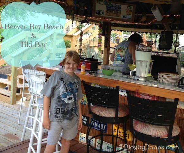 Having fun at Uncle Bill's Beaver Bay Beach & Tiki Bar! :)