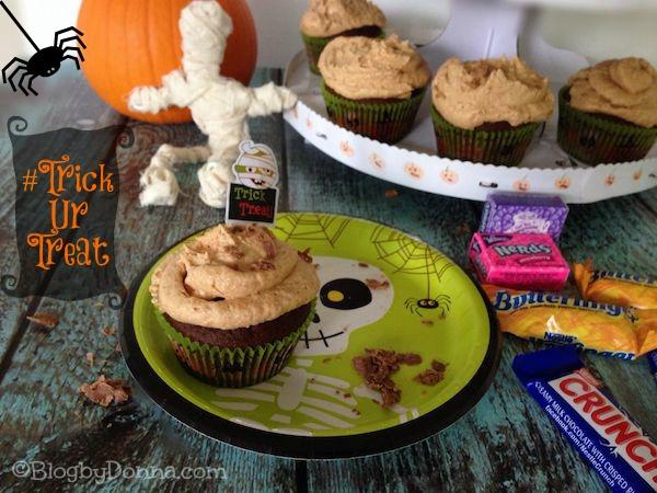 #TrickURTreat Halloween Butterfinger Cupcakes #shop #cbias