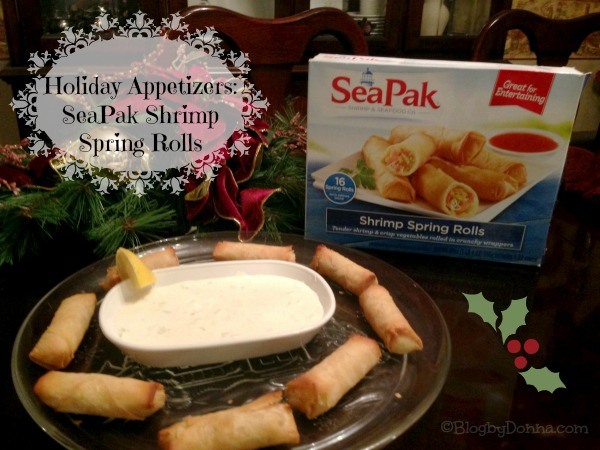 Holiday appetizers with SeaPak Shrimp Spring Rolls #PakTheParty #shop #cbias