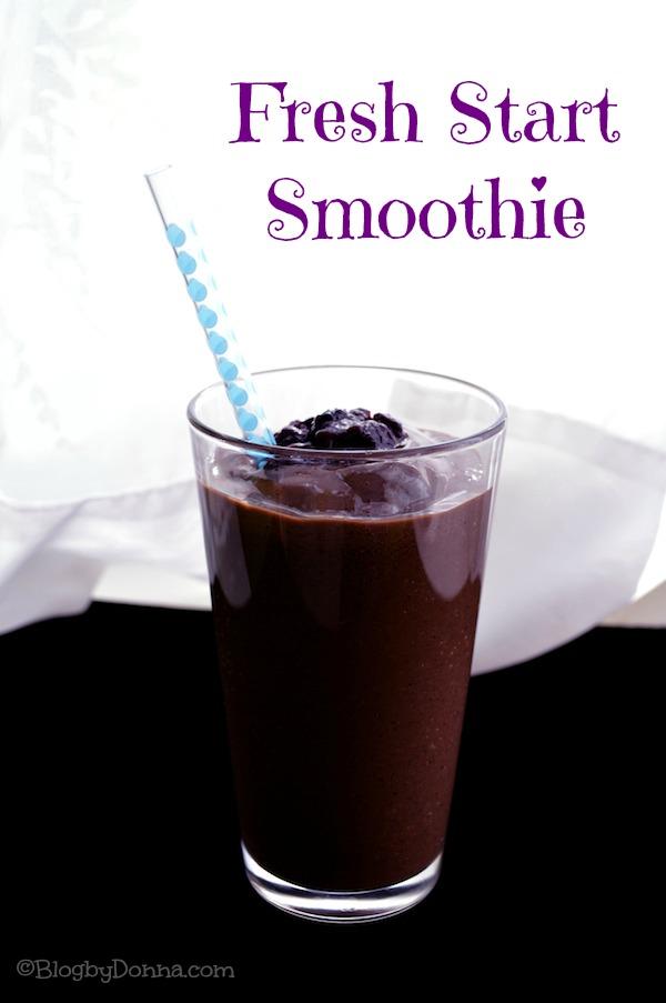Fresh start smoothie recipe from Blog by Donna http://blogbydonna.com