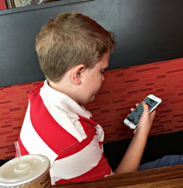 Cody with iPhone