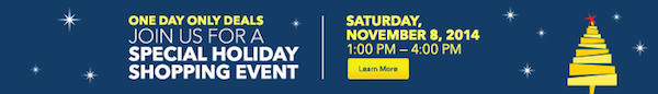 Holiday Shopping Event Online Banner 700x100