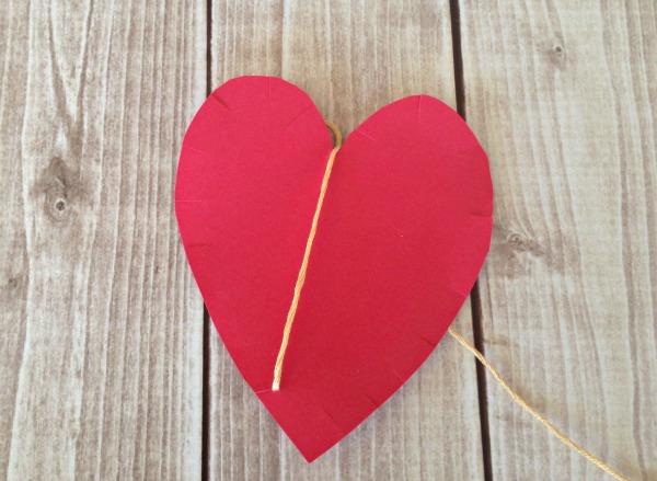 String HEART Craft Tutorial 4 Start Stringing Heart