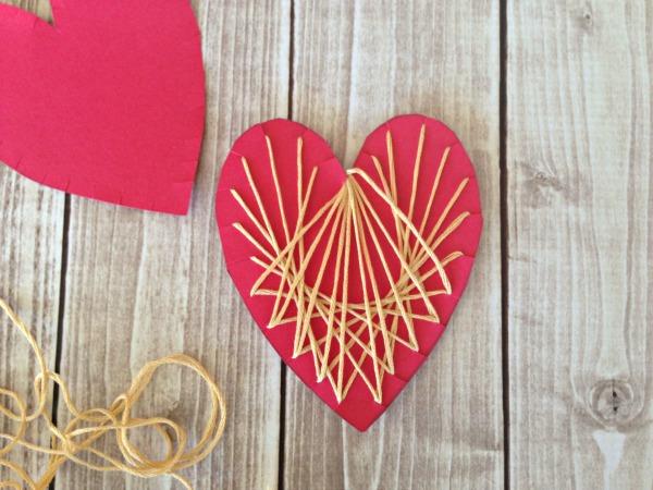 String HEART Craft Tutorial 7 Finished Stringing