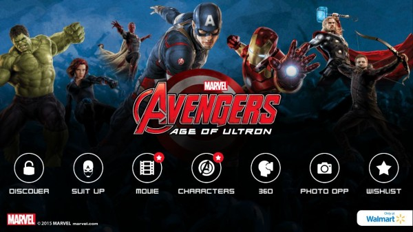 Super Heroes Assemble Main Screen