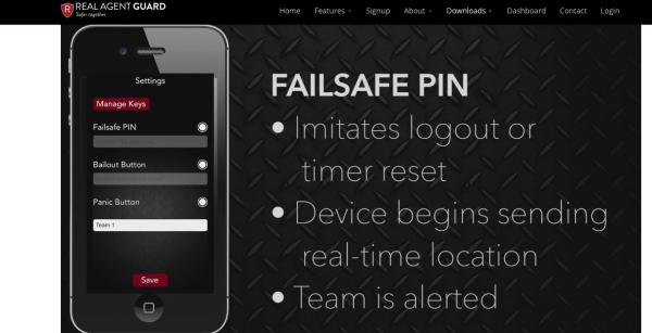 ScreenShot of Real Agent Guard App Failsafe