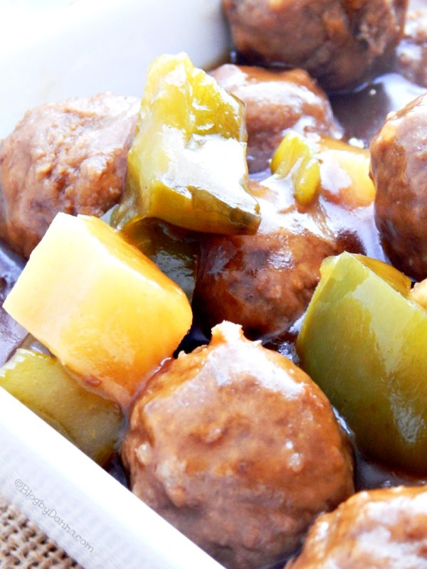 sweet and sour meatball crock pot recipe