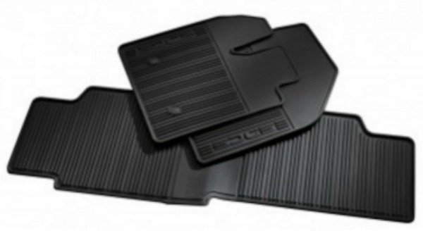 Ford All Weather Floor Mats Black Rubber