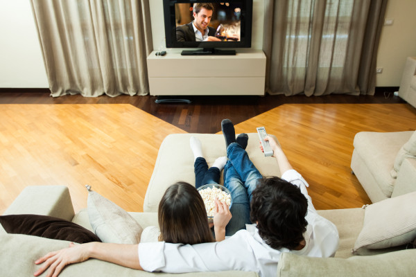 Valentine's Day stay at home date idea movie night