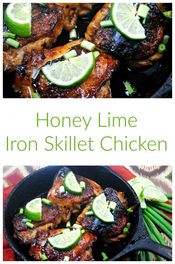 Cast Iron Skillet Honey Lime Chicken