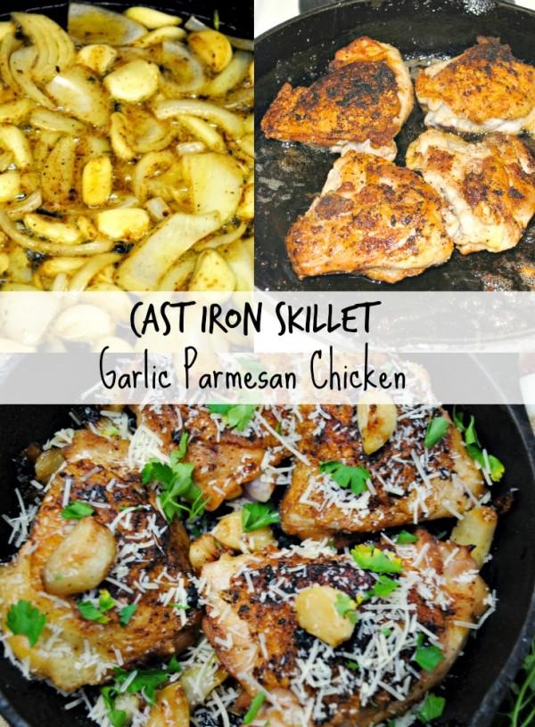cast iron skillet garlic parmesan chicken recipe