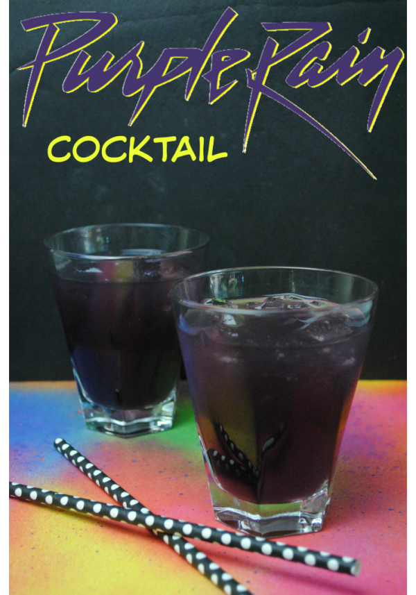 Purple Rain Cocktail to celebrate Prince