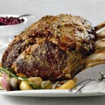 Dijon & Herb Rubbed Beef Roast with Cranberry Sauce