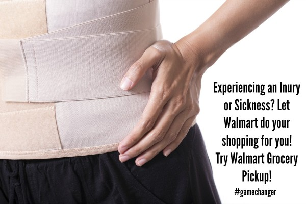 Let Walmart Grocery Pickup do the shopping for you when you are sick or injured... #gamechanger