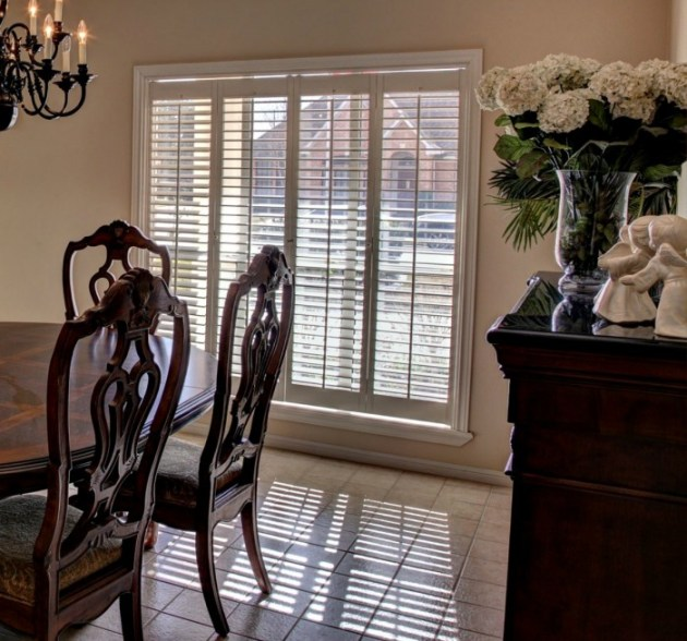 Decorating on a budget. Window coverings, shutters.