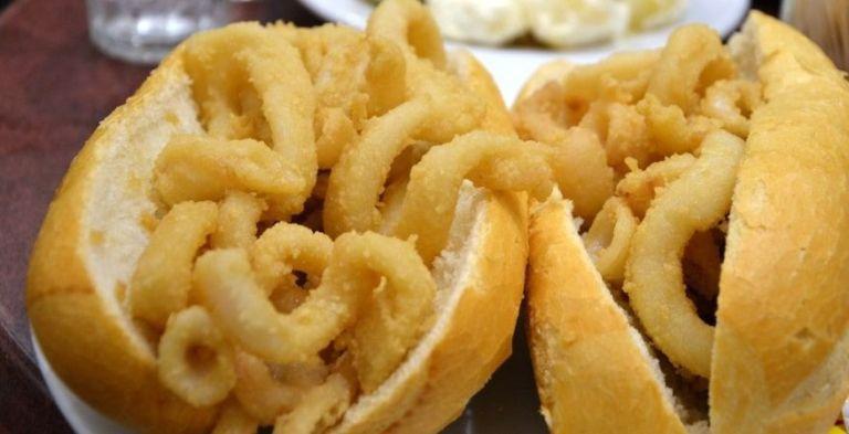 bocadillos de calamares