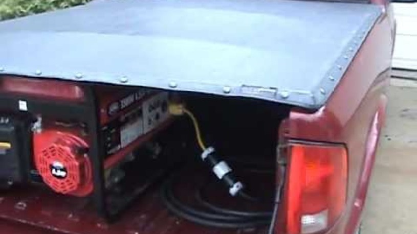 Electric Vehicle Chevy S10 EV Hybrid with generator running