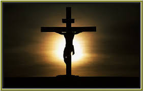 christ on cross sun circle