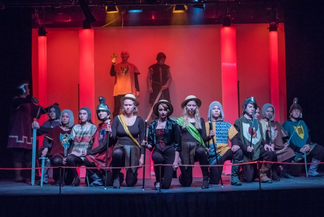 Photo: Members of the cast of Pippin in the musical number,