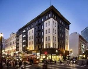 Personality Hotel Union Square San Francisco Facade