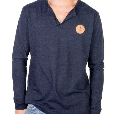 Everyday California Jetty Henley in blue for men