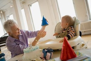 Grandma Baby and Frist Birthdays