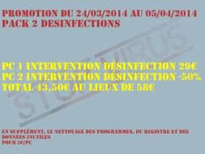 Promotion désinfection virus Pack pour 2 PC à 43,50€ seulement au lieux de 58€